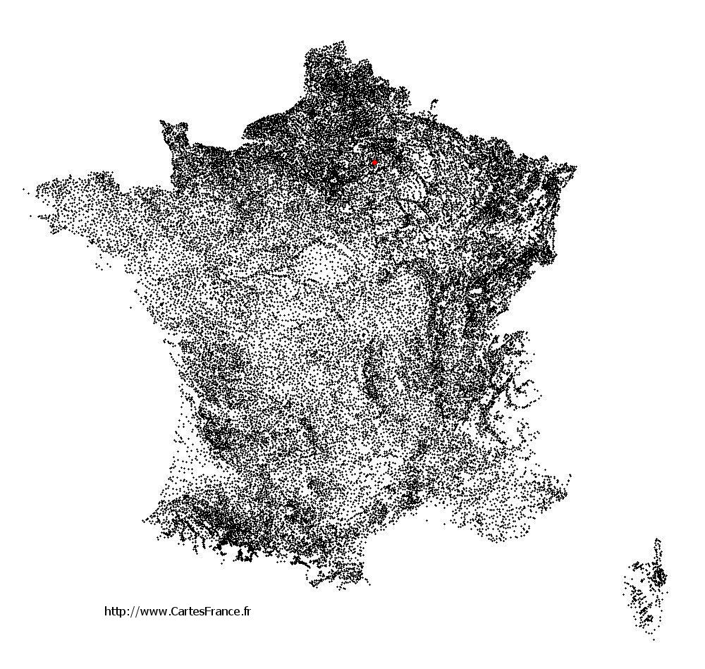 Latilly sur la carte des communes de France