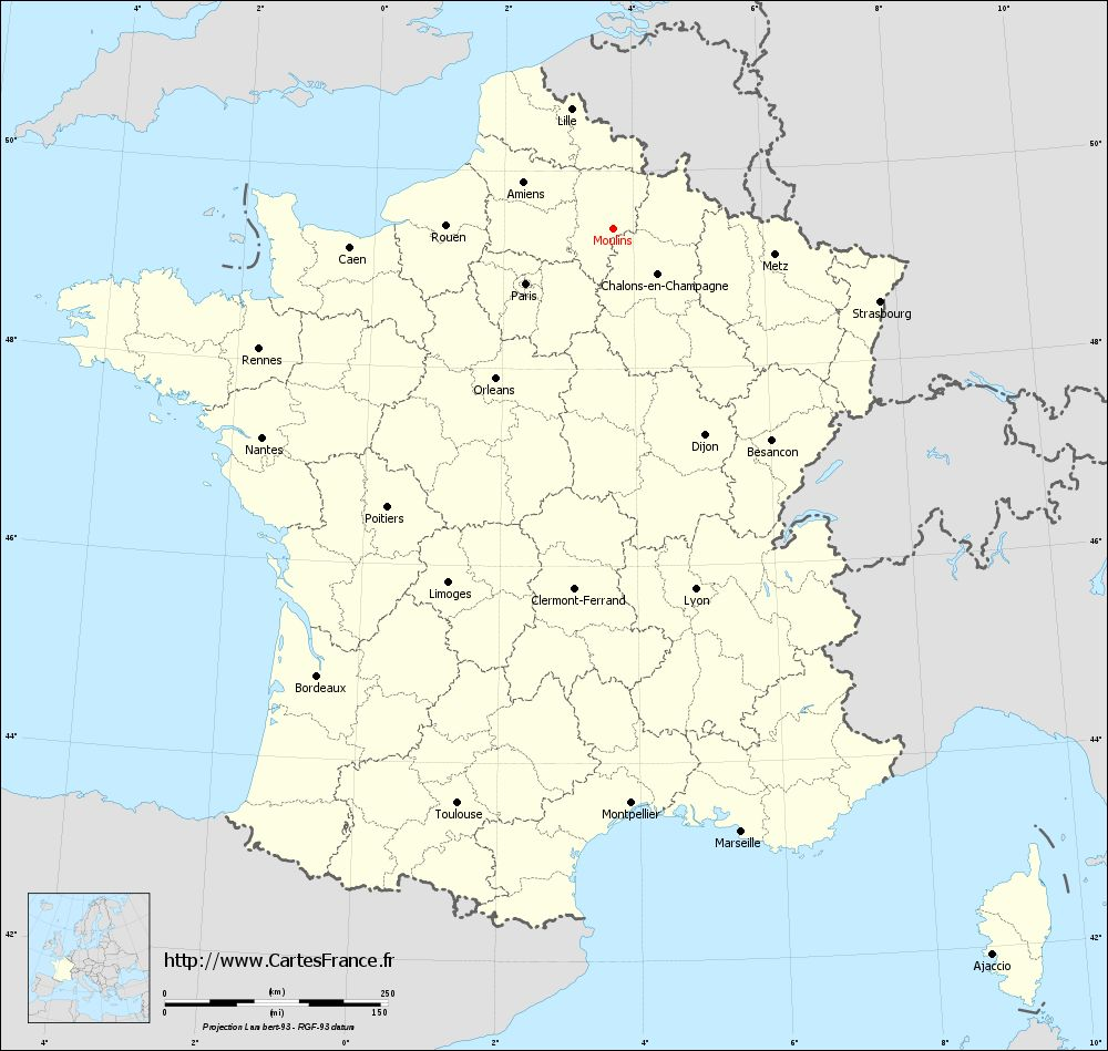 Carte administrative de Moulins