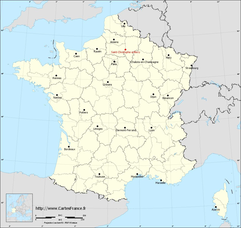 Carte administrative de Saint-Christophe-à-Berry