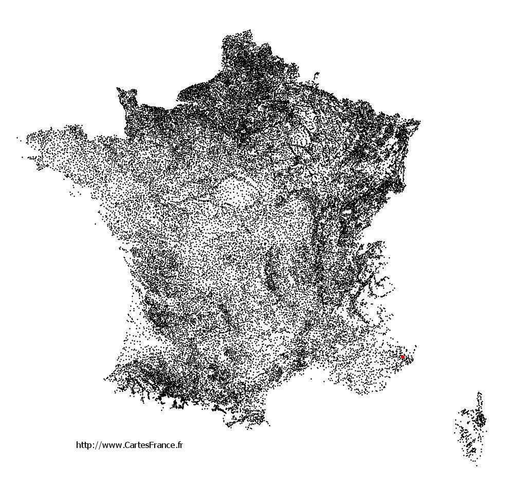 Bonson sur la carte des communes de France