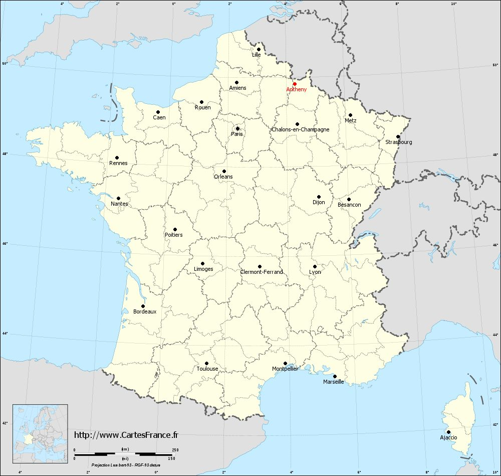 Carte administrative d'Antheny