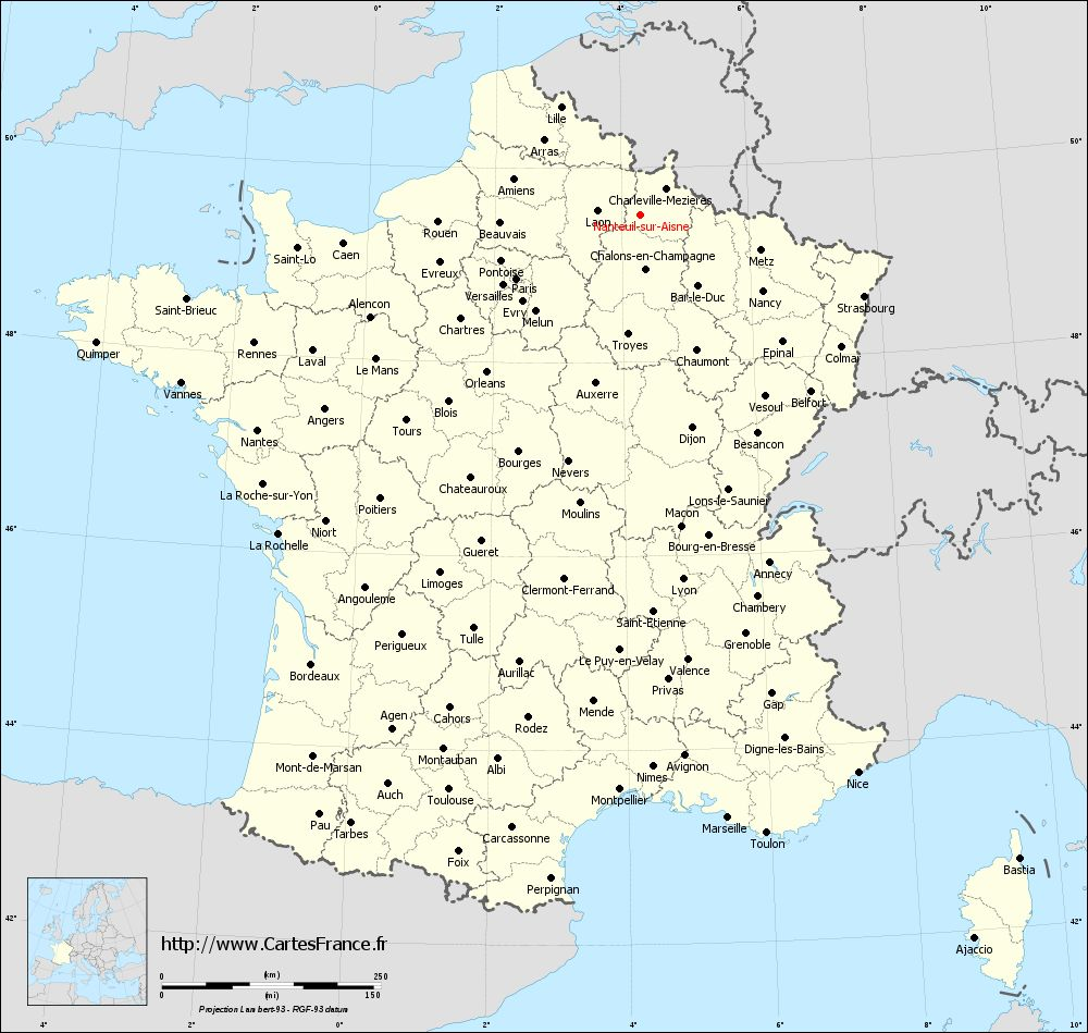 aisne carte de france - Image
