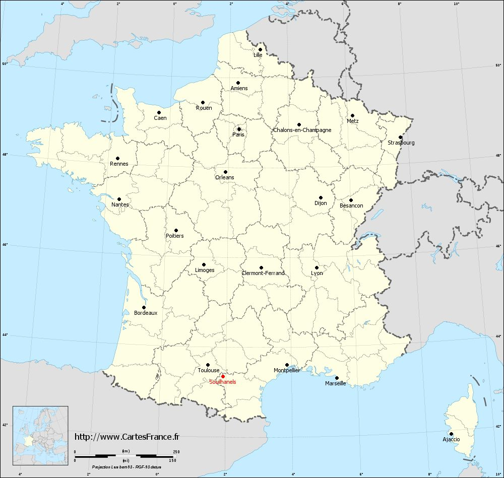 Carte administrative de Souilhanels