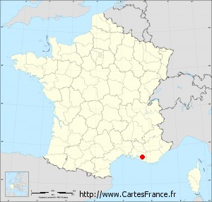 Fond de carte administrative de Simiane-Collongue petit format