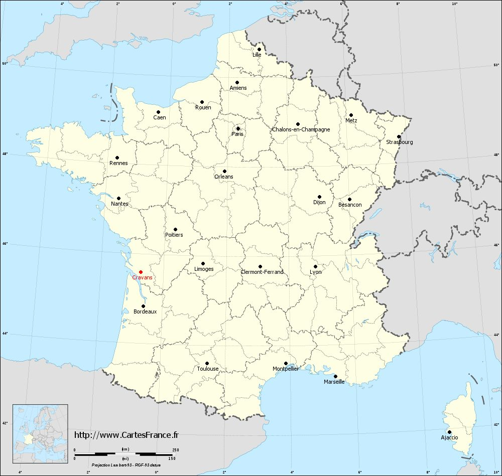 Carte administrative de Cravans