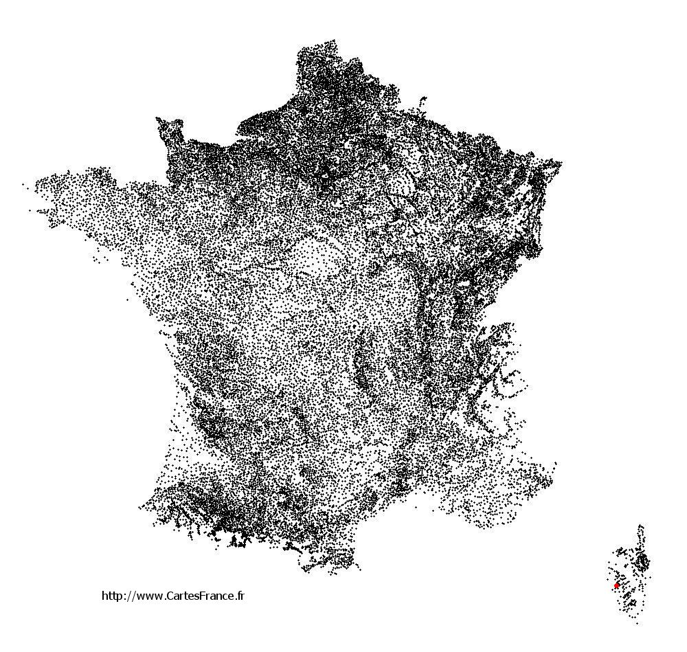 Calcatoggio sur la carte des communes de France