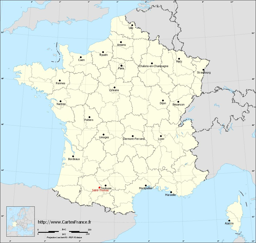 Carte administrative de Saint-Thomas