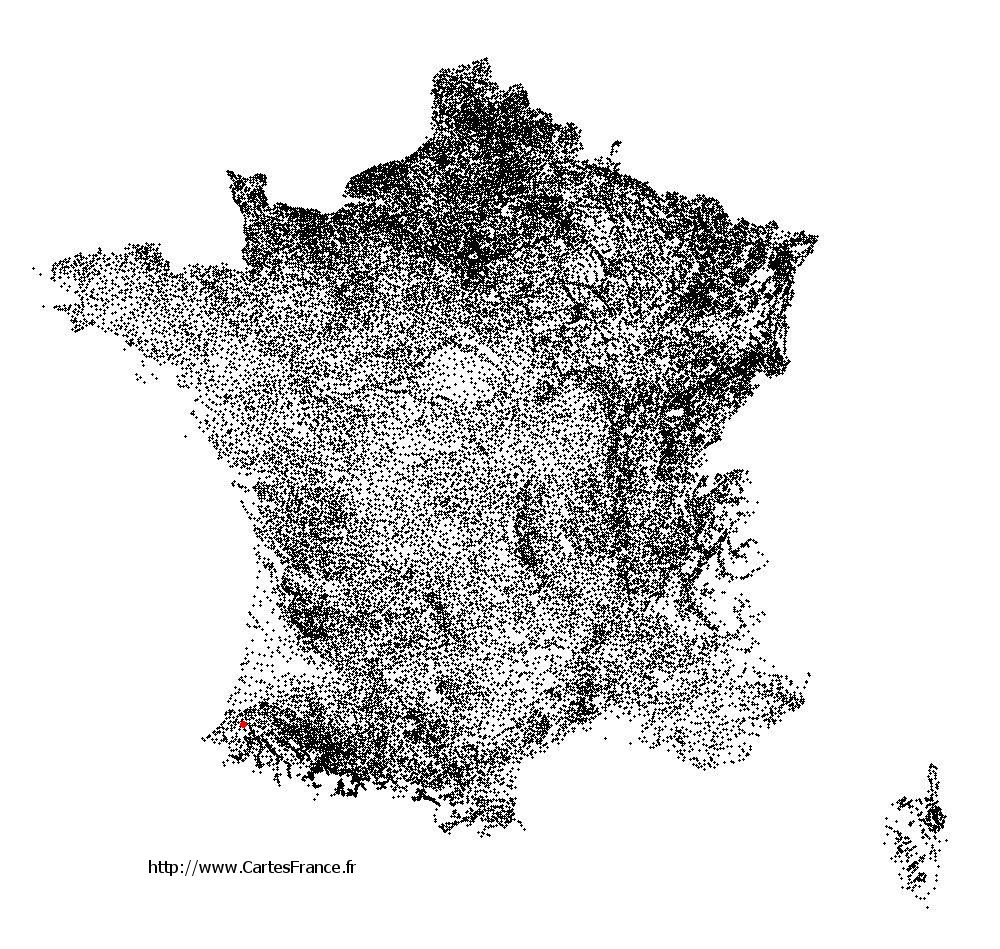 Hastingues sur la carte des communes de France