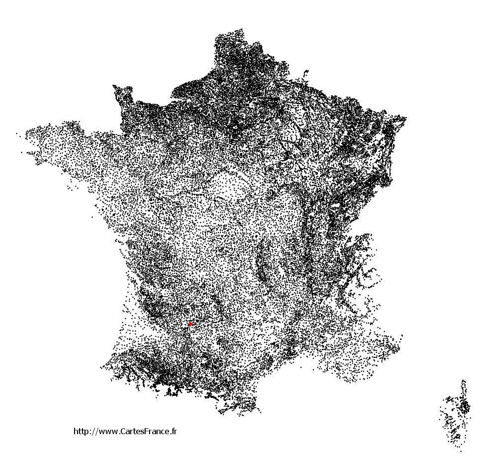 Bourlens sur la carte des communes de France