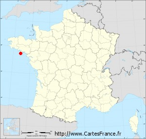 carte de france quiberon