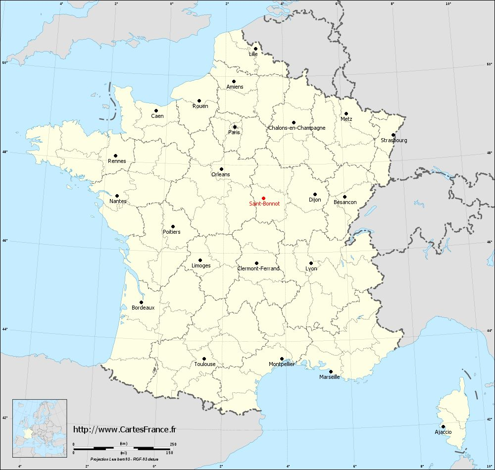 Carte administrative de Saint-Bonnot