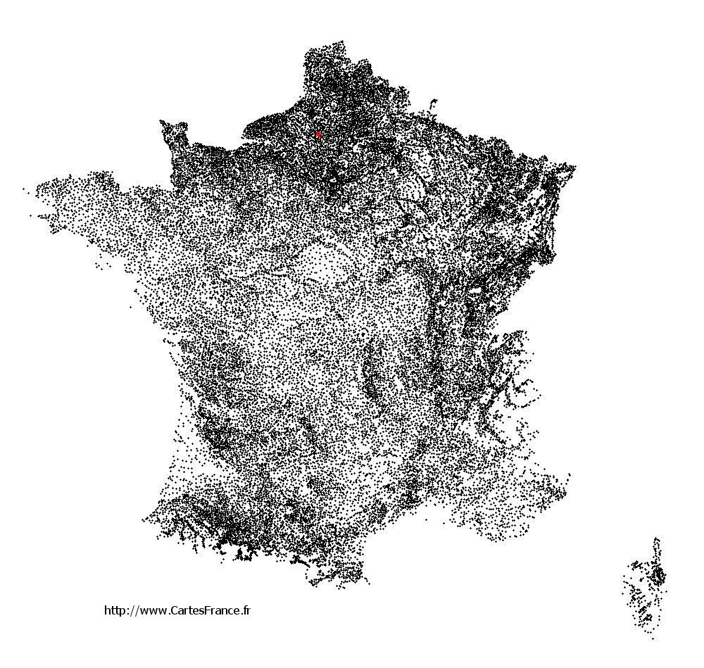 Fontaine-Lavaganne sur la carte des communes de France