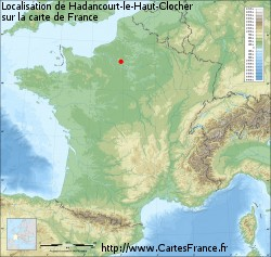 Hadancourt-le-Haut-Clocher sur la carte de France