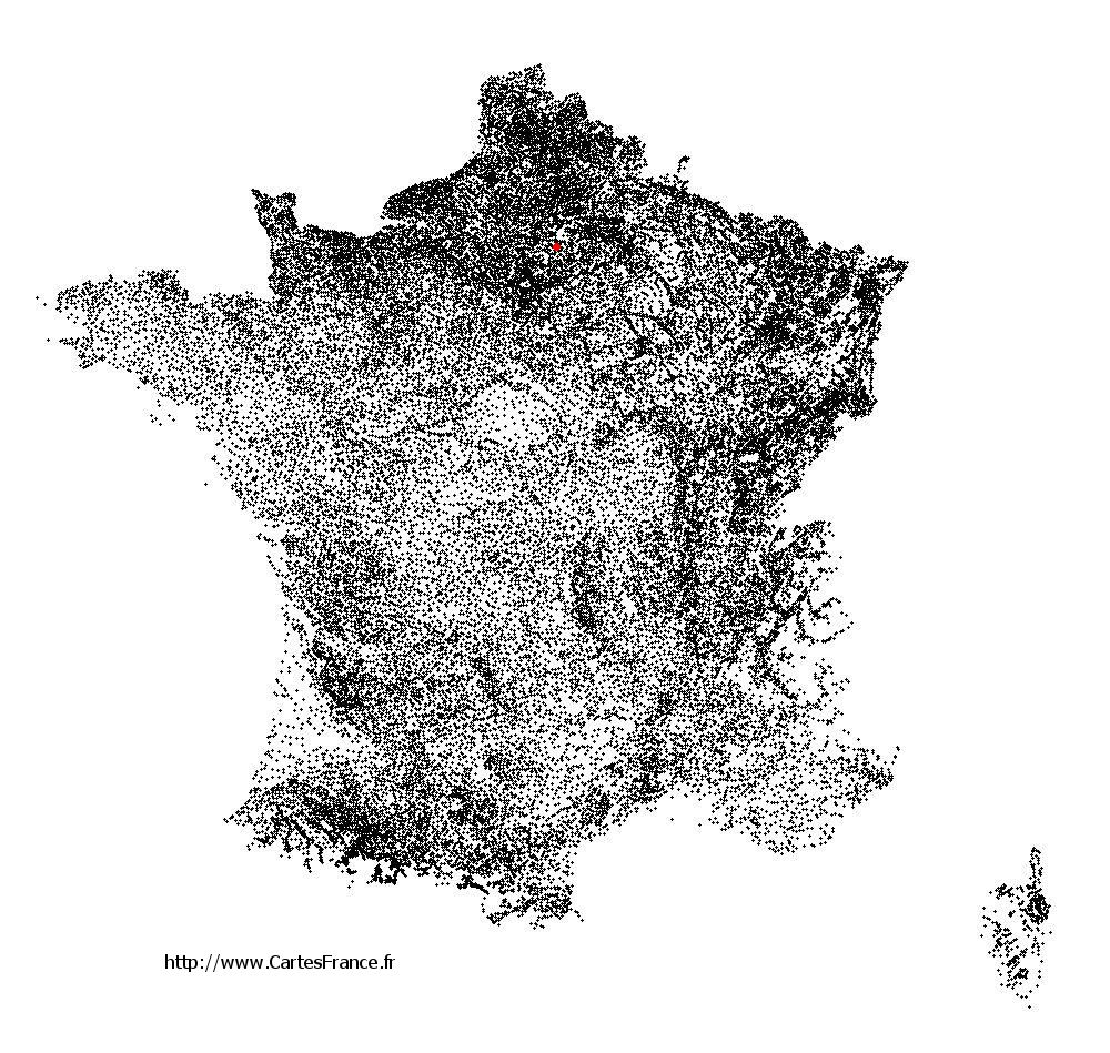 Trumilly sur la carte des communes de France