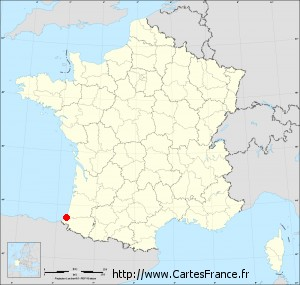 carte de france bayonne