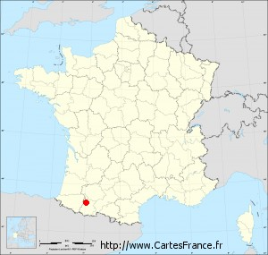 carte de france tarbes