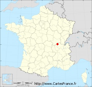 macon sur la carte de france - Image