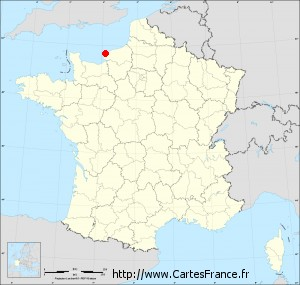 carte de france etretat