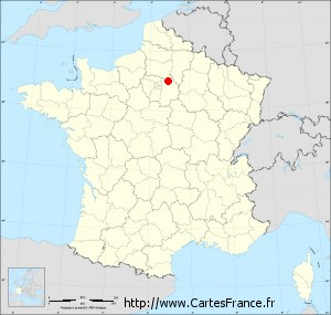 Fond de carte administrative de Poincy petit format