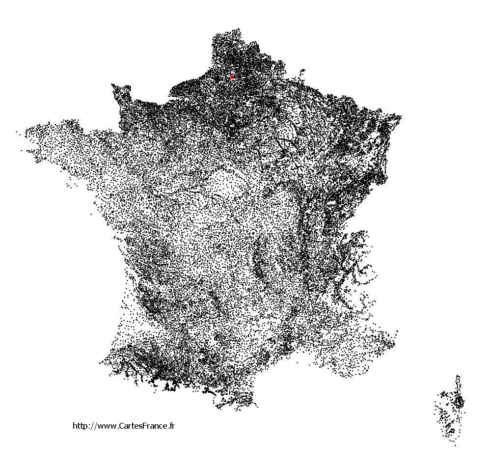 Bertangles sur la carte des communes de France