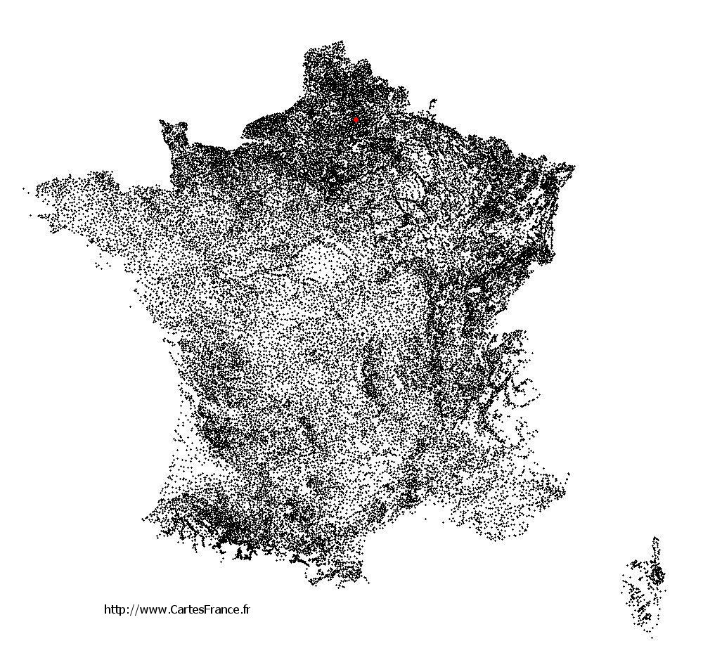 Licourt sur la carte des communes de France