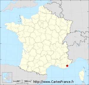 carte de france frejus