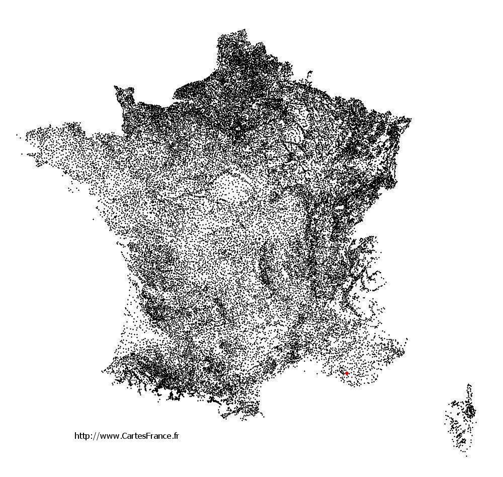 Saint-Zacharie sur la carte des communes de France