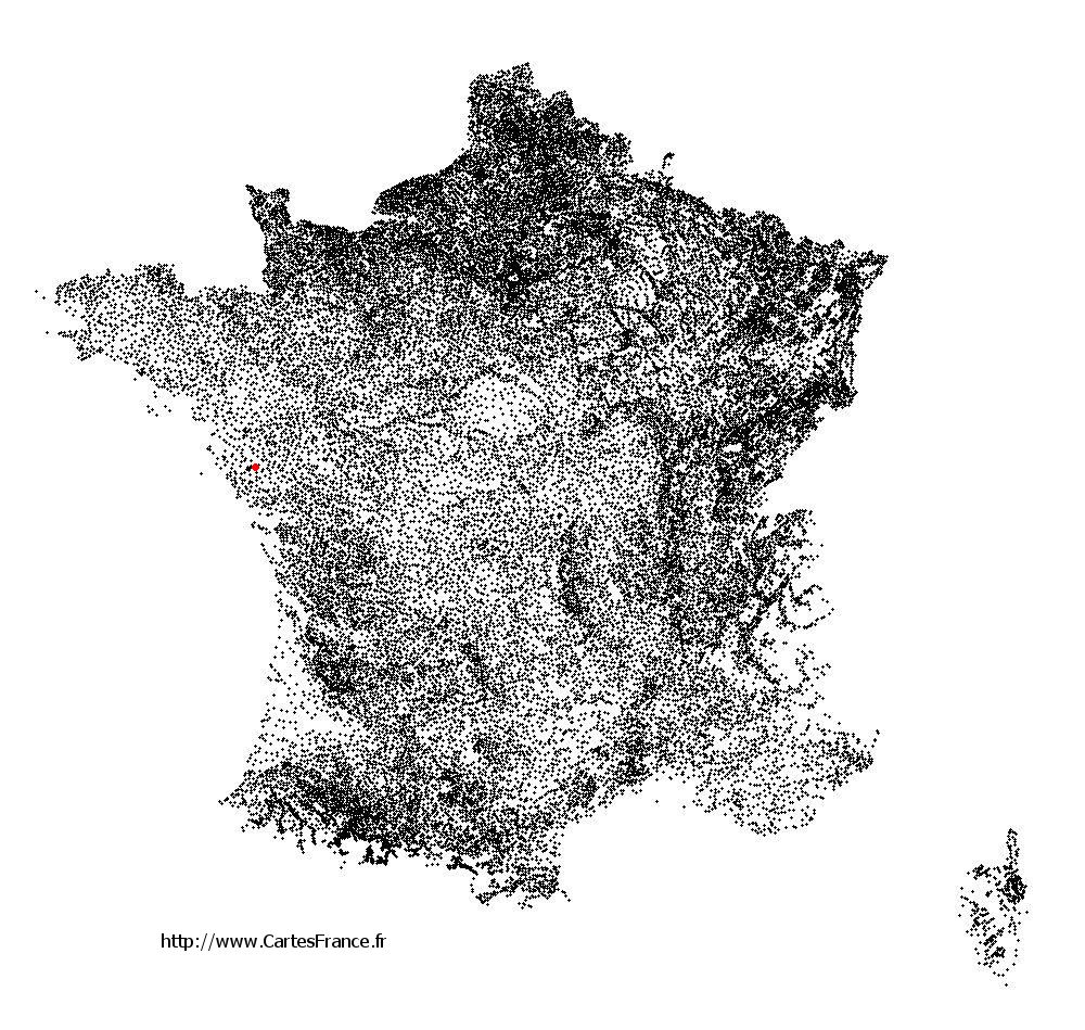 Beaufou sur la carte des communes de France