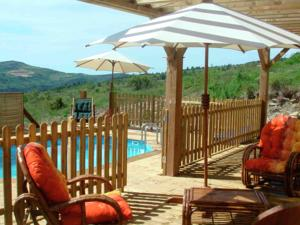 Hebergement Holiday home Roquetaillade : Chalet 2 Chambres