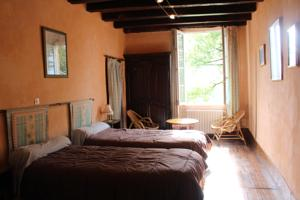 Chambres d'hotes/B&B Les Indrins : Chambre Lits Jumeaux