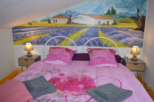 Chambres d'hotes/B&B Campagn'Art : Chambre Lit King-Size