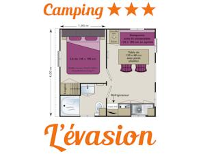 Hebergement Camping L'Evasion : Mobile Home 1 Chambre