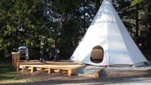 Hebergement Glamping at Camping La Source : Tente (2 Personnes)