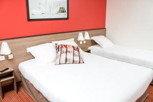 Ace Hotel Caen Nord Memorial : Chambre Triple - 3 Lits Simples