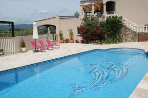 Hebergement Tranquil Villa with Stunning Views, Large Heated Private Pool and Games Room : photos des chambres