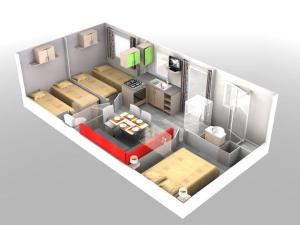Hebergement mobilhome climatise 3 chambres : photos des chambres