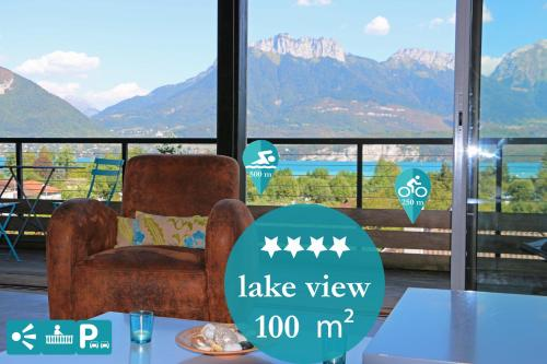 Home Lac 100m² Vue et parking : Appartement proche de Gruffy