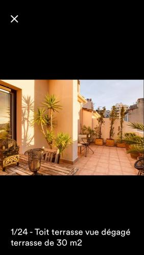 Appartement Toit terrasse centre