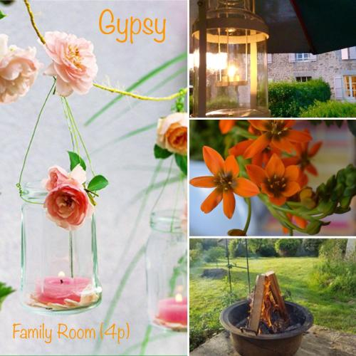 Domaine Charente - Familyroom Gypsy with garden (with external toilet & shower house) : Appartement proche de Beaulieu-sur-Sonnette