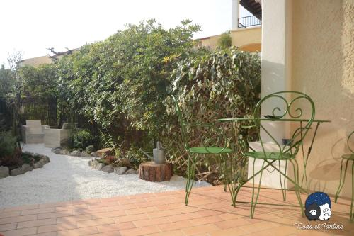 One Bedroom Apartment with garden - Dodo et Tartine : Appartement proche de Carqueiranne