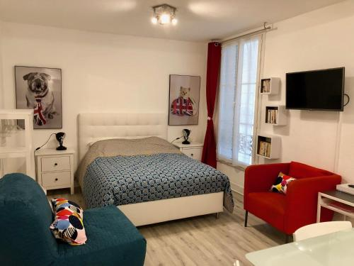 Studio Confort Centre Parking Gratuit : Appartement proche de Saint-Étienne-de-Vicq