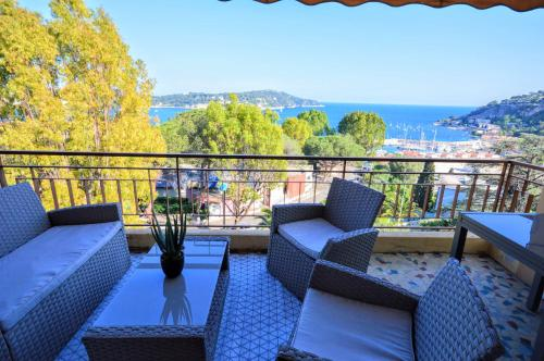 Villefranche center Bay & Port Sea view front : Appartement proche de Villefranche-sur-Mer
