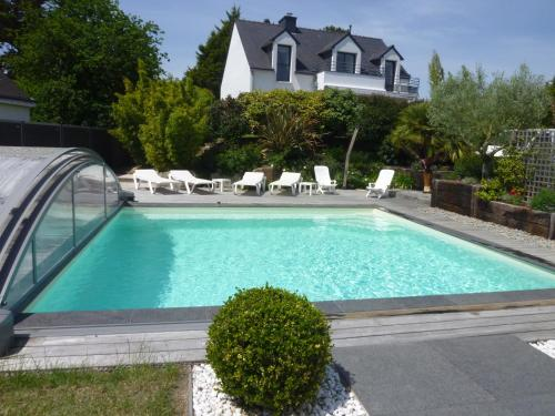 4 stars villa - private pool : Hebergement proche de Le Tour-du-Parc