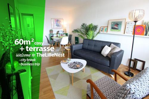 The Lille Nest : Appartement proche de Mons-en-Barœul