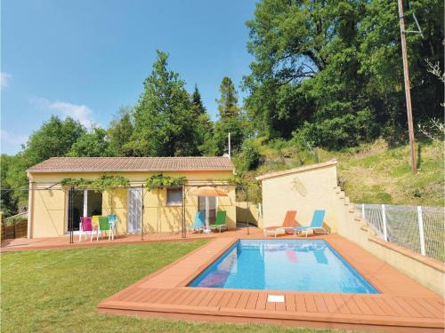 Two-Bedroom Holiday Home in Molieres-sur-Ceze : Hebergement proche de Robiac-Rochessadoule