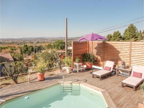 Three-Bedroom Holiday Home in Campagnan : Hebergement proche de Cazouls-d'Hérault