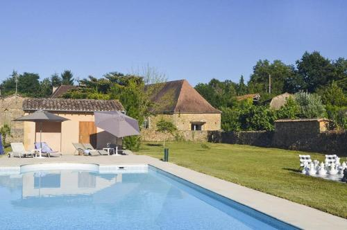 Saint-Agne Villa Sleeps 12 Pool WiFi : Hebergement proche de Lalinde