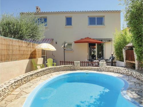Three-Bedroom Holiday Home in Tourbes : Hebergement proche de Pouzolles