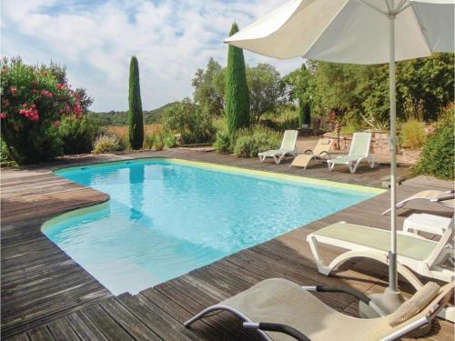 Holiday home Gabian 95 with Outdoor Swimmingpool : Hebergement proche de Pouzolles