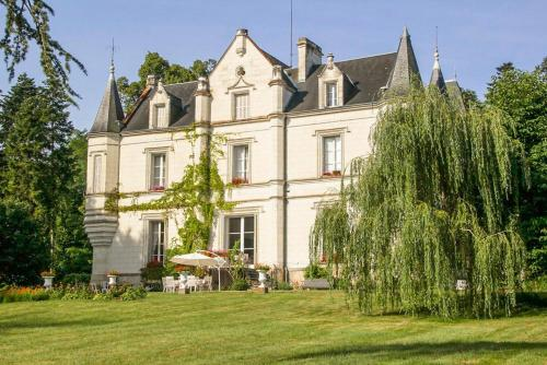 Perrusson Chateau Sleeps 13 Pool WiFi : Hebergement proche de Saint-Senoch